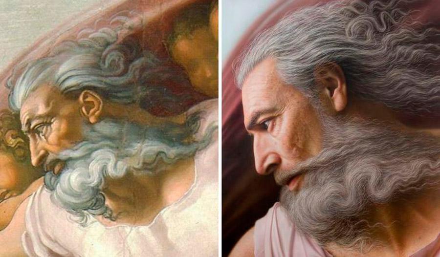«Сотворение Адама», Бог