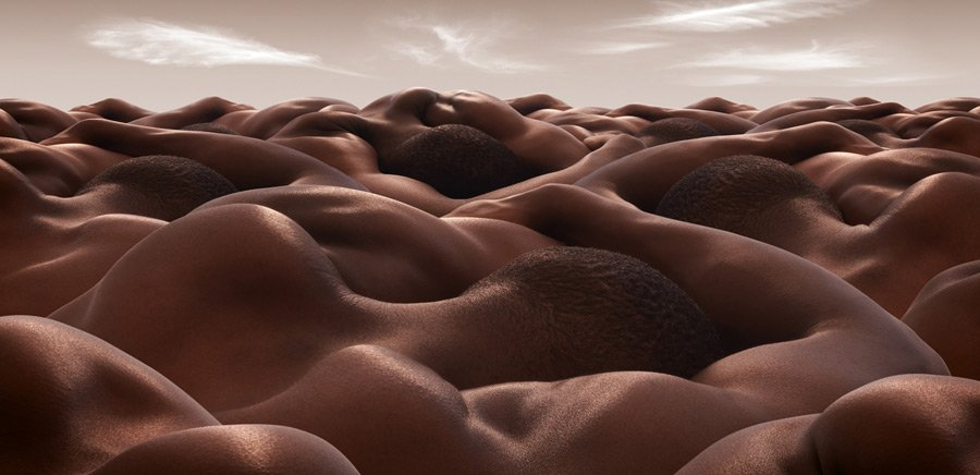 Карл Уорнер серия работ Bodyscapes