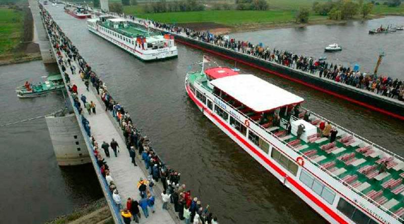 Магдебургский водный мост (Kanalbrücke Magdeburg), Германия