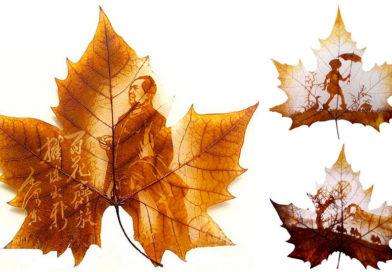 Художественная резьба по листьям (leaf carving)