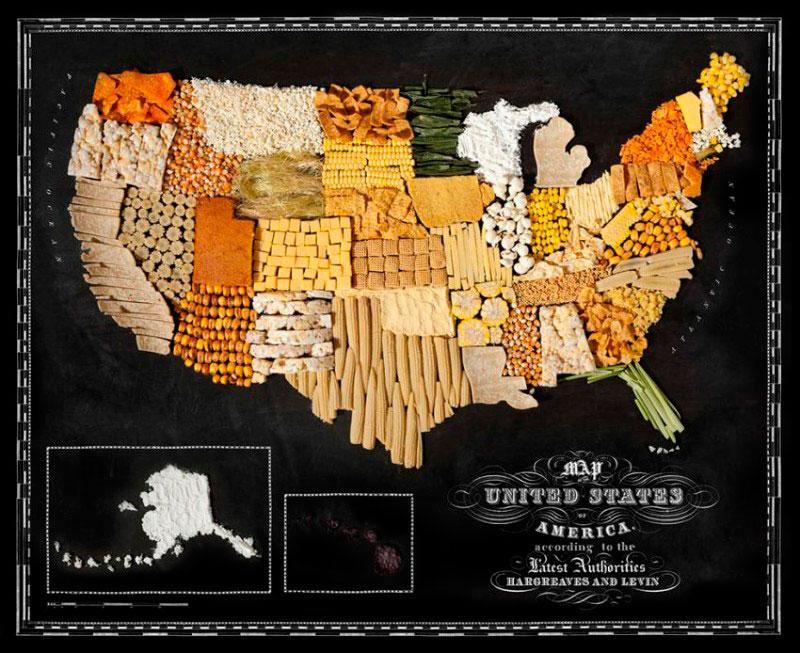 Проект «Food Maps» («съедобная карта»). Henry Hargreaves и Caitlin Levin