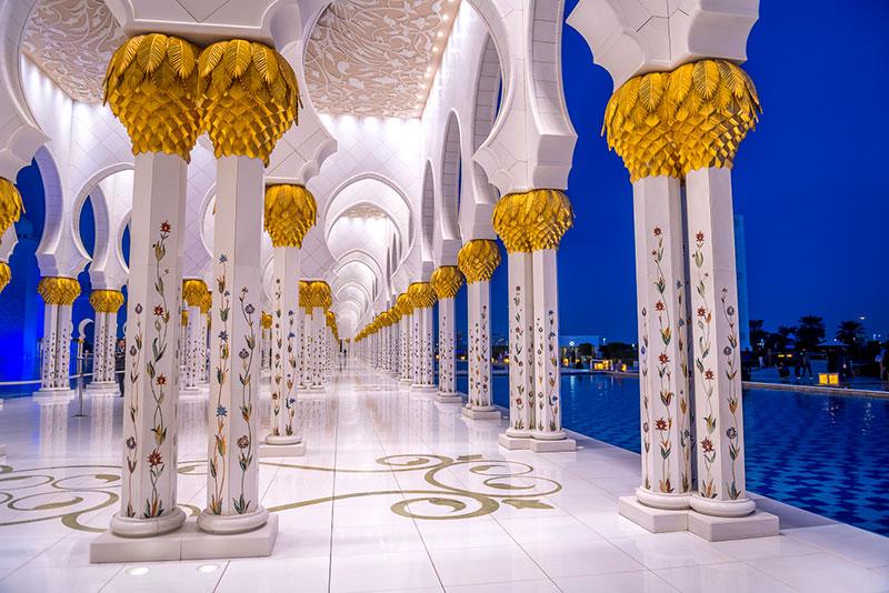 ОАЭ, Абу-Даби. Мечеть шейха Зайда