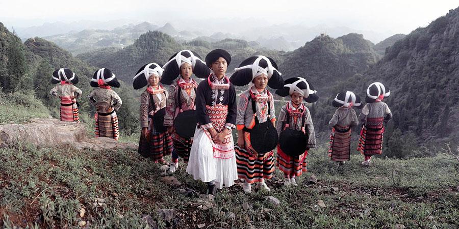 Племя Лонг Хорн, Лючжи Содзяо, Люпаньшуй, Гуаджоу, Китай