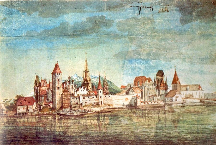 Альбрехт Дюрер. Вид на Инсбрук, 1495