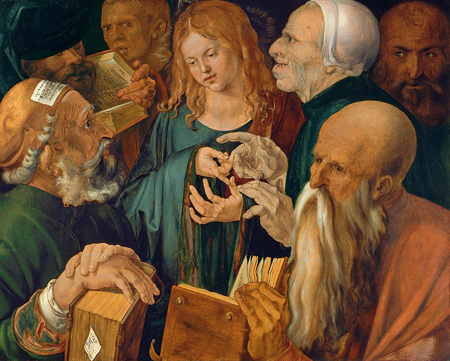 Альбрехт Дюрер. Иисус среди врачей, 1506