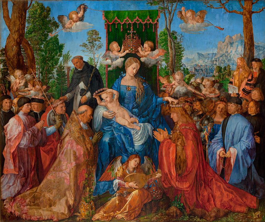Альбрехт Дюрер. Праздник розовых гирлянд (1506)