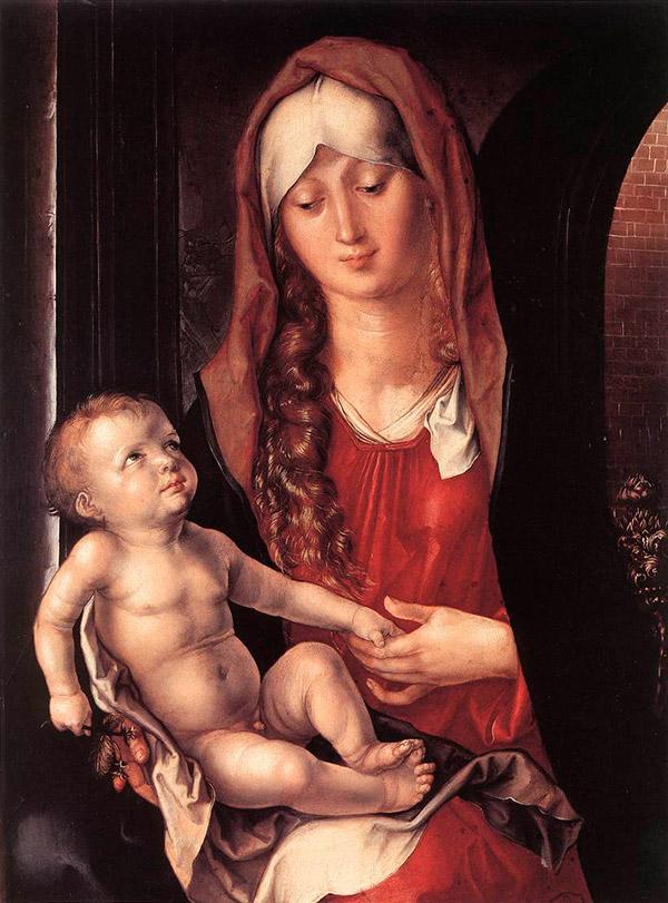 Альбрехт Дюрер. Мадонна под аркой, 1496