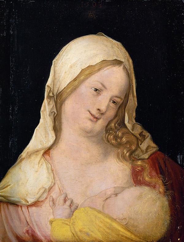 German- Maria mit Kind an der Brust , 1503
