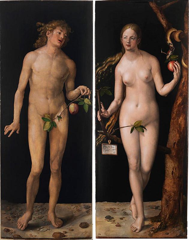 Альбрехт Дюрер. Адам (1507),Ева, 1507