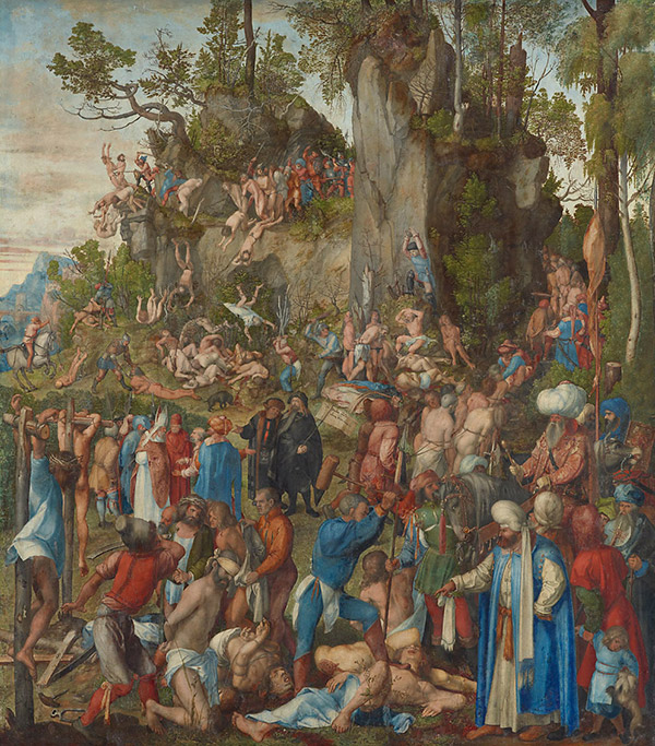 Альбрехт Дюрер. Мученичество десяти тысяч, 1508