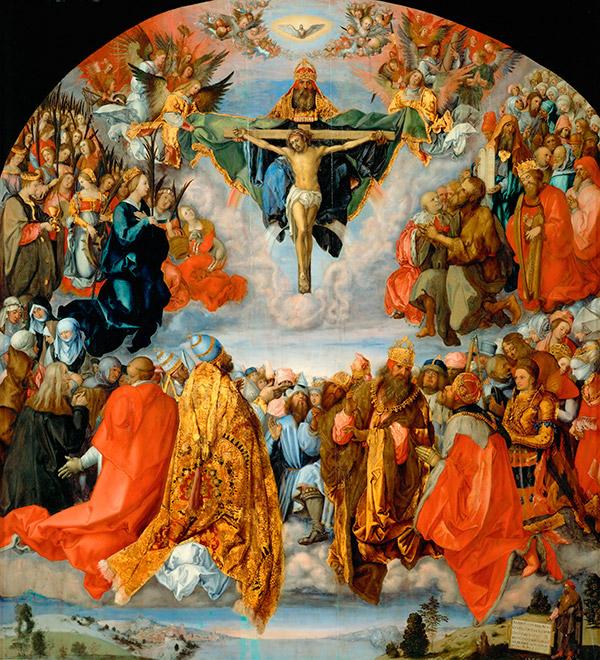 Альбрехт Дюрер. Поклонение Троице  или Изображение Всех Святых, 1511