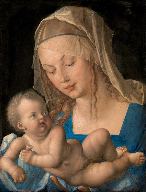 Альбрехт Дюрер. Дева и дитя с грушей, 1512