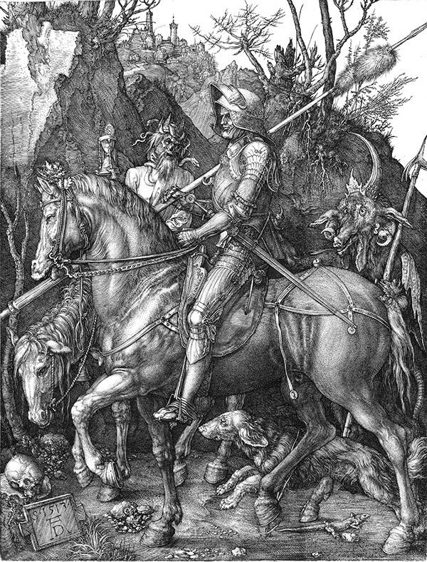 Альбрехт Дюрер. Рыцарь, смерть и дьявол, 1513