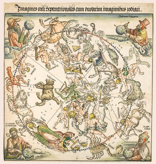 Альбрехт Дюрер. Карта Северного неба, 1515