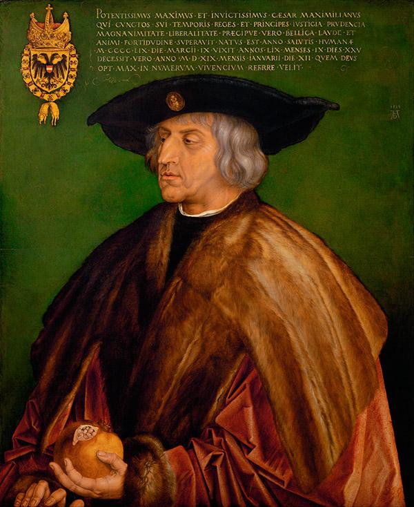 Альбрехт Дюрер . Портрет императора Максимилиана I, 1519