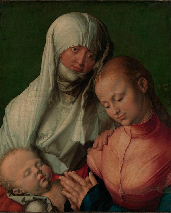 Альбрехт Дюрер. Дева и младенец со Святой Анной, 1519