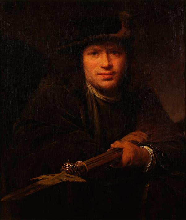 Arent de Gelder. Портрет человека с алебардой