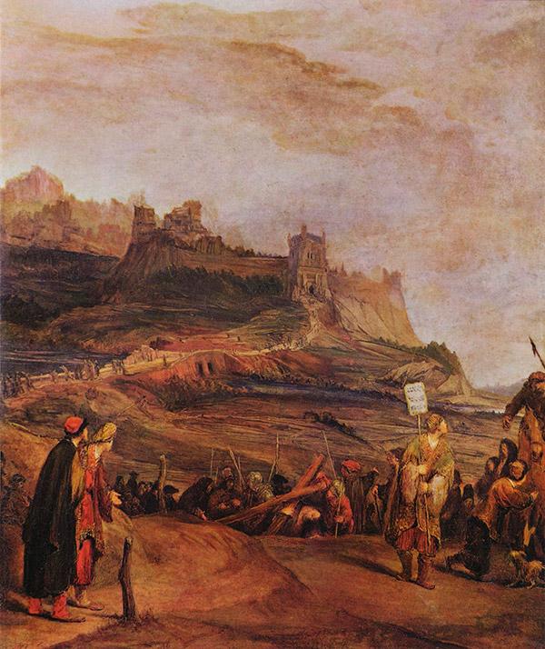 Арент де Гелдер (Arent de Gelder) Путь на Голгофу