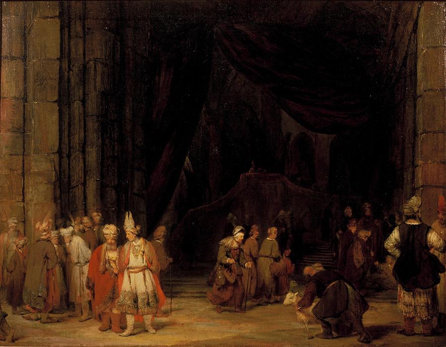 Арент де Гелдер (нид.Aert de Gelder) Вход в храм (1679)