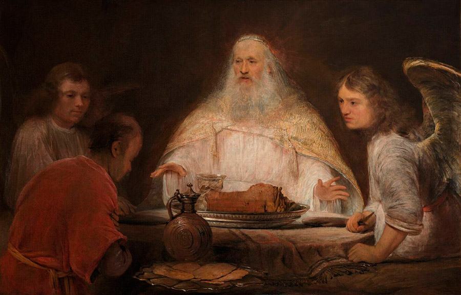 Арент де Гелдер (нид.Aert de Gelder) Авраам и Ангелы, 1680-е