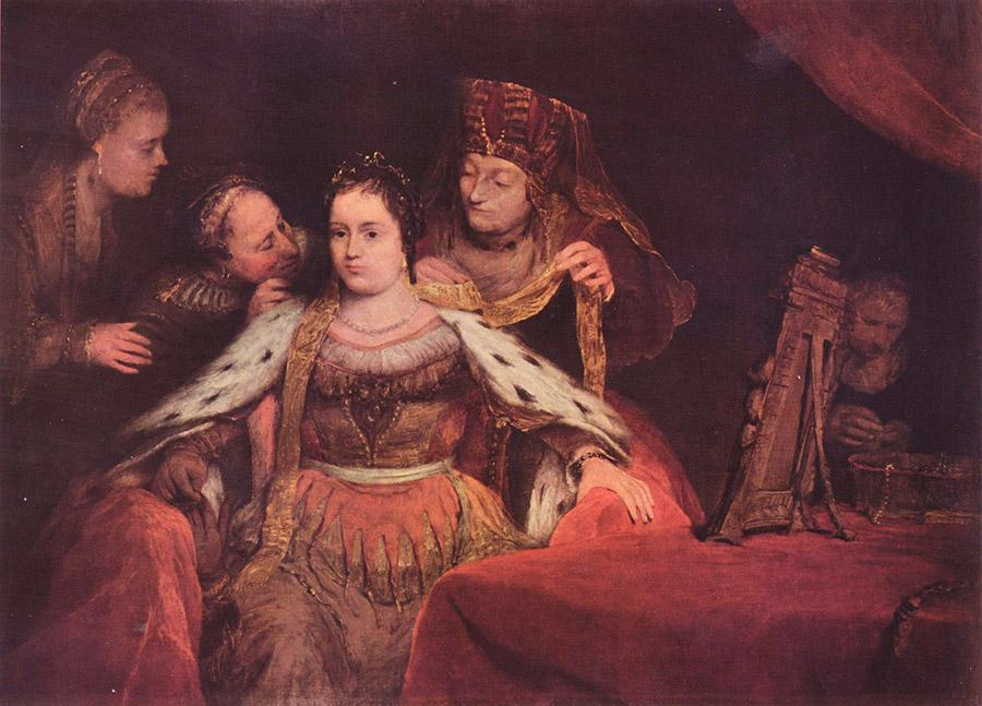 Арент де Гелдер (нид.Aert de Gelder) Еврейская невеста (Эстер прихорашивается, 1684