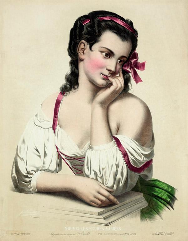 Жозефина Дюколле Josephine Ducollet   художница литография