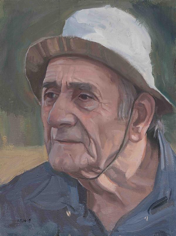 Кирон Вильямсон (Kieron Williamson) – художник. белая шляпа, 2020