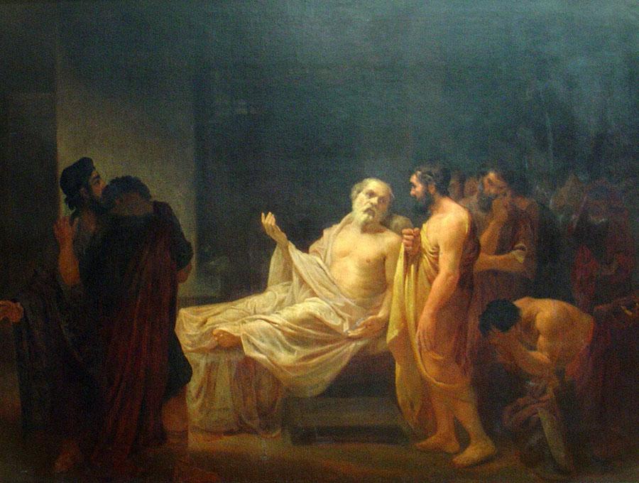 Жозе Мария де Медейрос (Смерть Сократа (1878)). José_Maria_de_Medeiros_-_A_morte_de_Sócrates,_1878