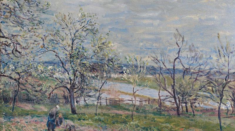 Альфред Сислей (Alfred Sisley) Весна в Вене-Надоне, 1882