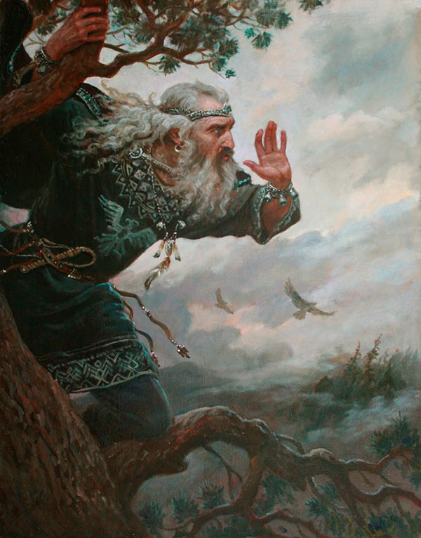 Андрей Шишкин (Andrey Shishkin) - художник, Позвизд (славянский бог воздуха, погоды и ненастья), 2015