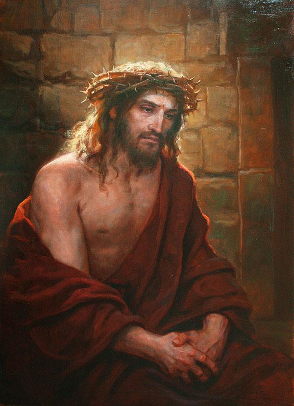Андрей Шишкин (Andrey Shishkin) - художник, Христос в темнице, 2018