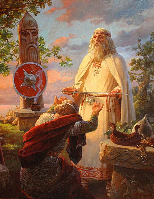 Андрей Шишкин (Andrey Shishkin) - художник, Благословение ратника, 2018
