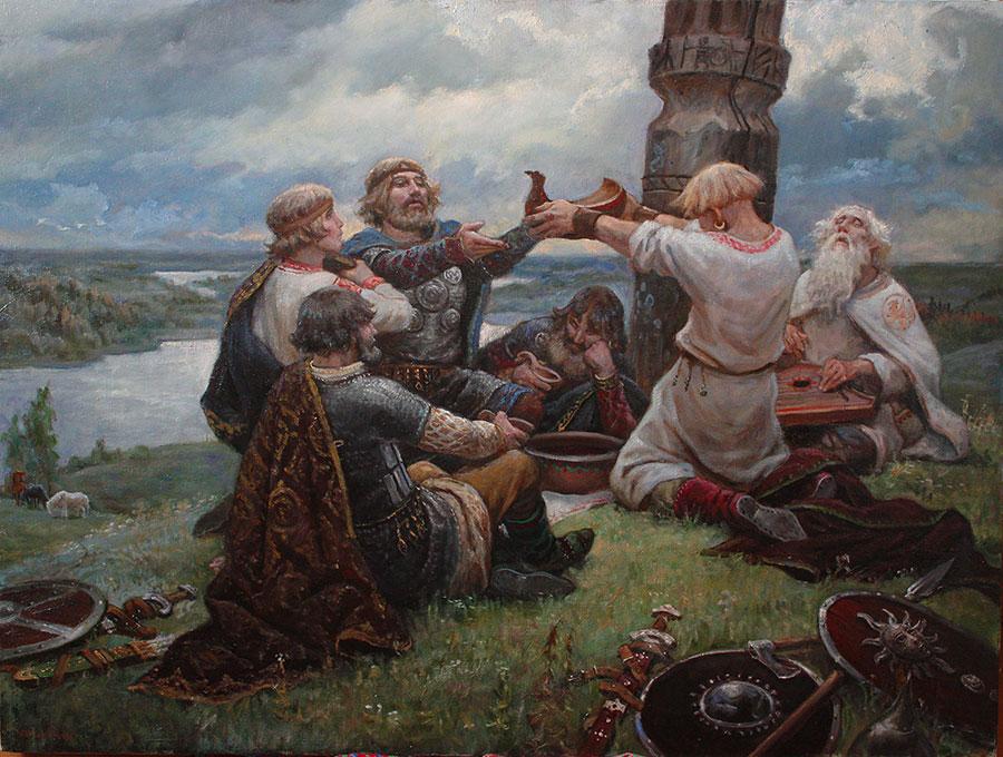 Андрей Шишкин (Andrey Shishkin) - художник, Тризна, 2019