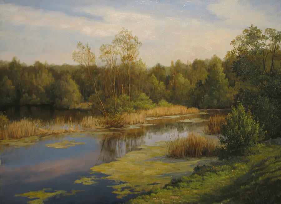 Андрей Шишкин (Andrey Shishkin) - художник, Озеро, 2007