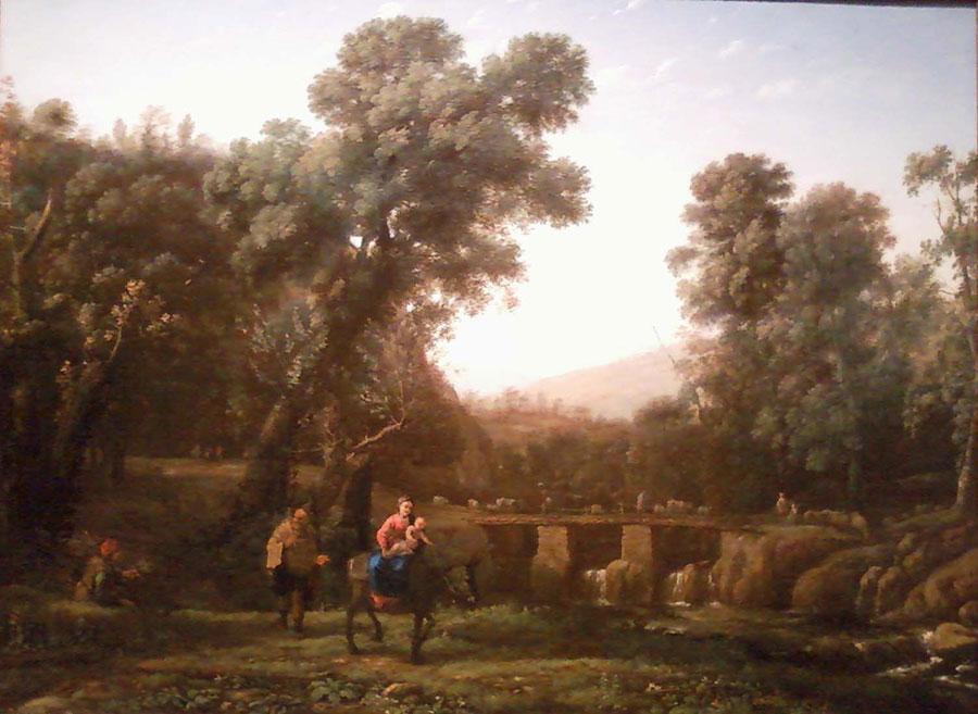 Клод Лоррен (Claude Lorrain) - художник-пейзажист, Путешествие Святого Семейства в Египет, 1635