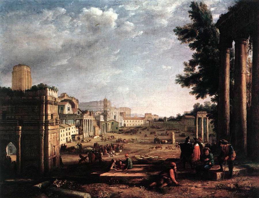 Клод Лоррен (Claude Lorrain) - художник-пейзажист,  Campo Vaccino, 1636