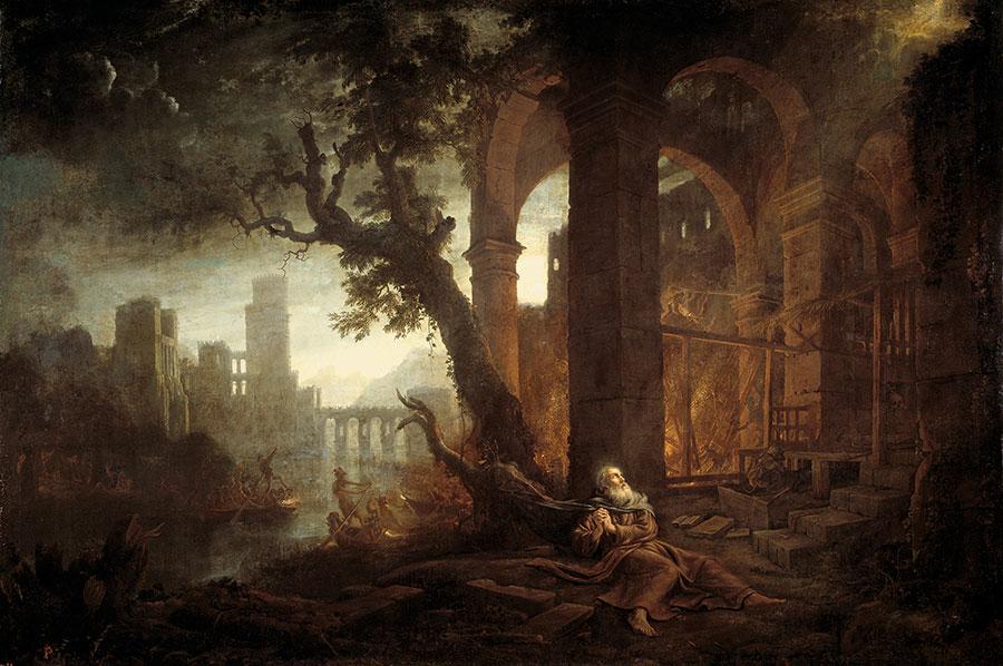 Клод Лоррен (Claude Lorrain) - художник-пейзажист, Landscape with the Temptations of Saint Anthony, 1638