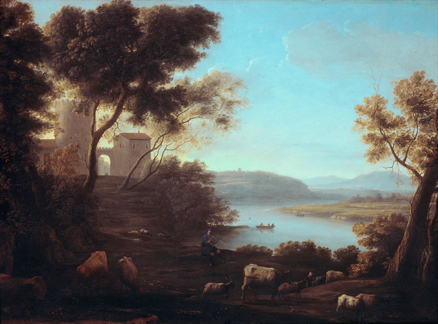 Клод Лоррен (Claude Lorrain) - художник-пейзажист, Римский пейзаж, 1639