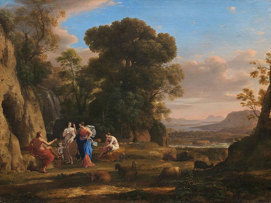 Клод Лоррен (Claude Lorrain) - художник-пейзажист, The Judgment of Paris, 1645-1646