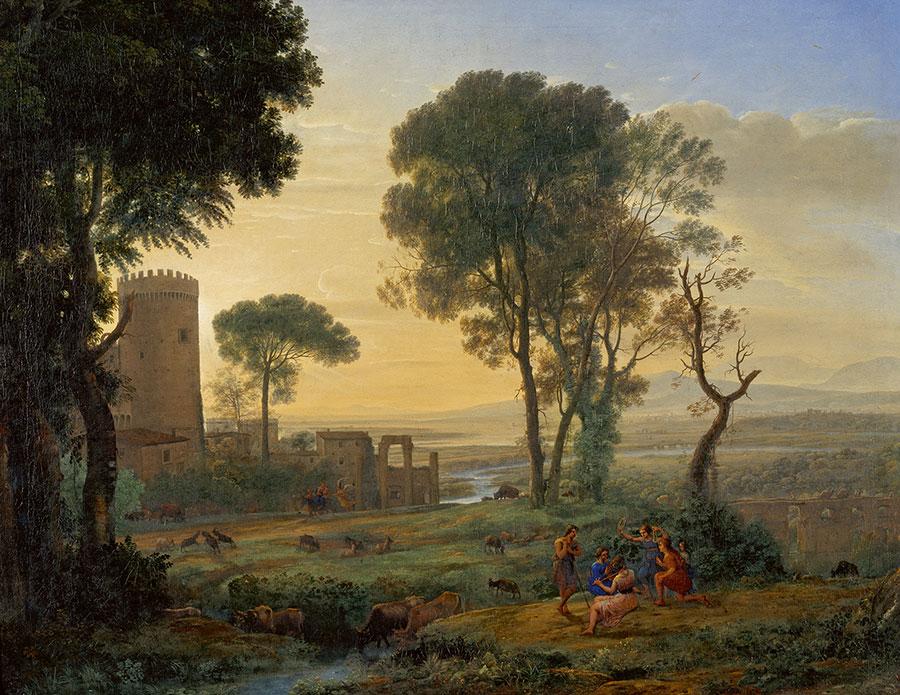 Клод Лоррен (Claude Lorrain) - художник-пейзажист, Landscape with the Flight into Egypt, 1646