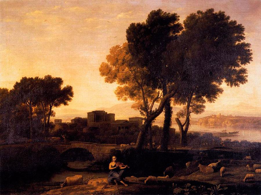 Клод Лоррен (Claude Lorrain), Аполлон, охраняющий стада Адметуса, 1654