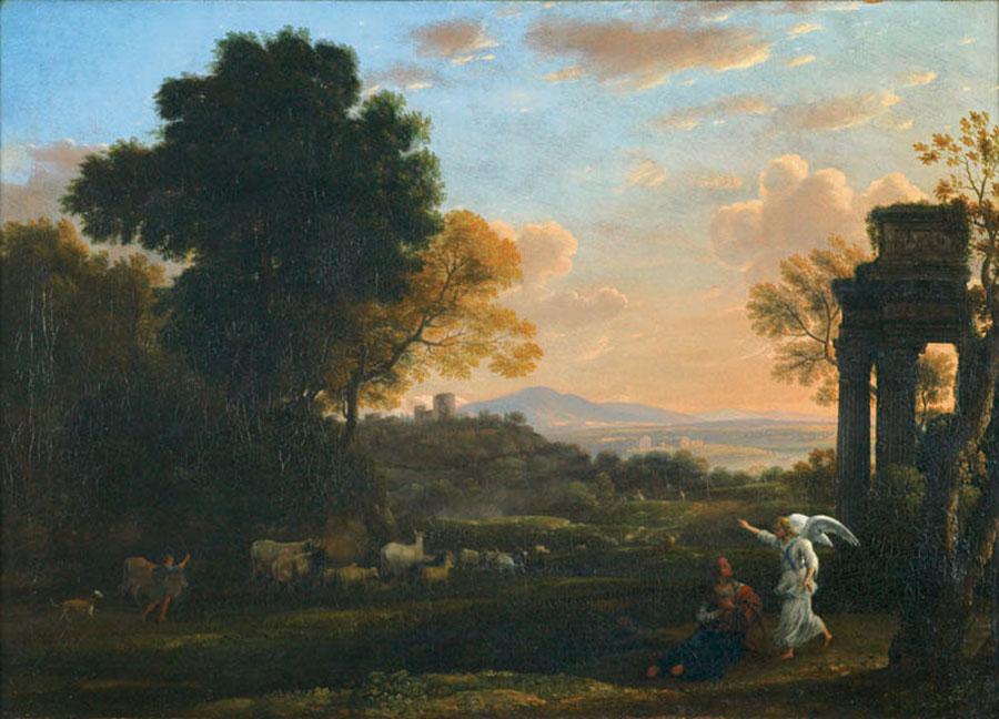 Клод Лоррен (Claude Lorrain) -  Landscape with Hagar and the Angel, 1654