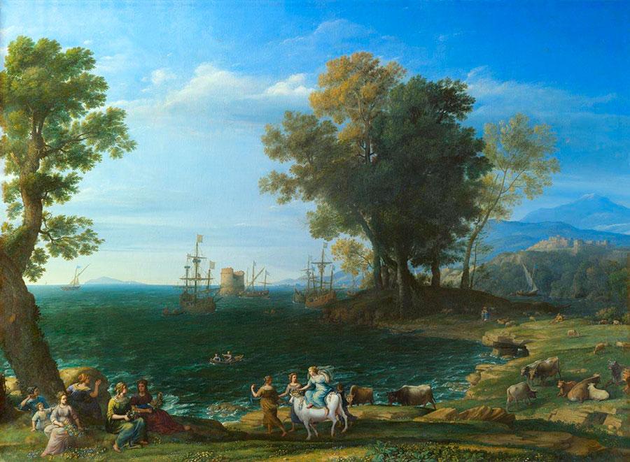 Клод Лоррен (Claude Lorrain) - Картина Лоррена из Архангельской коллекции князя Юсупова, 1655