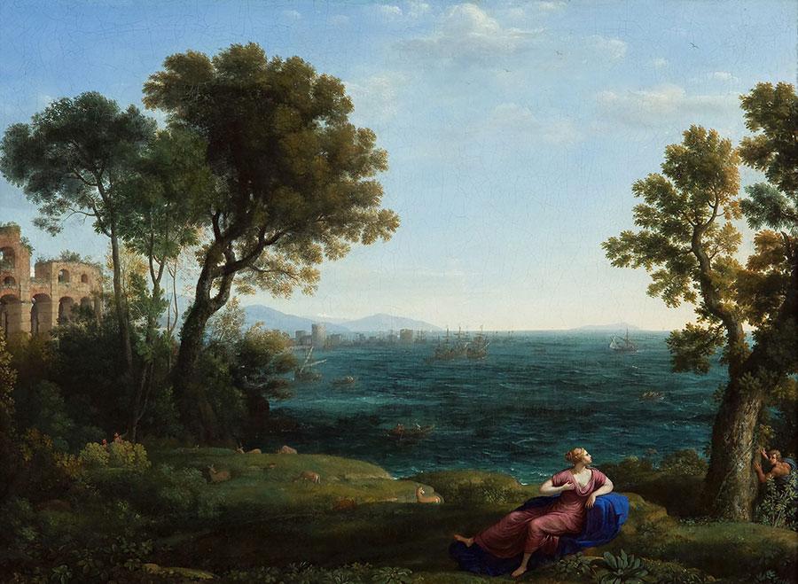 Клод Лоррен (Claude Lorrain) - Ariadne & Bacchus on Naxos, 1656