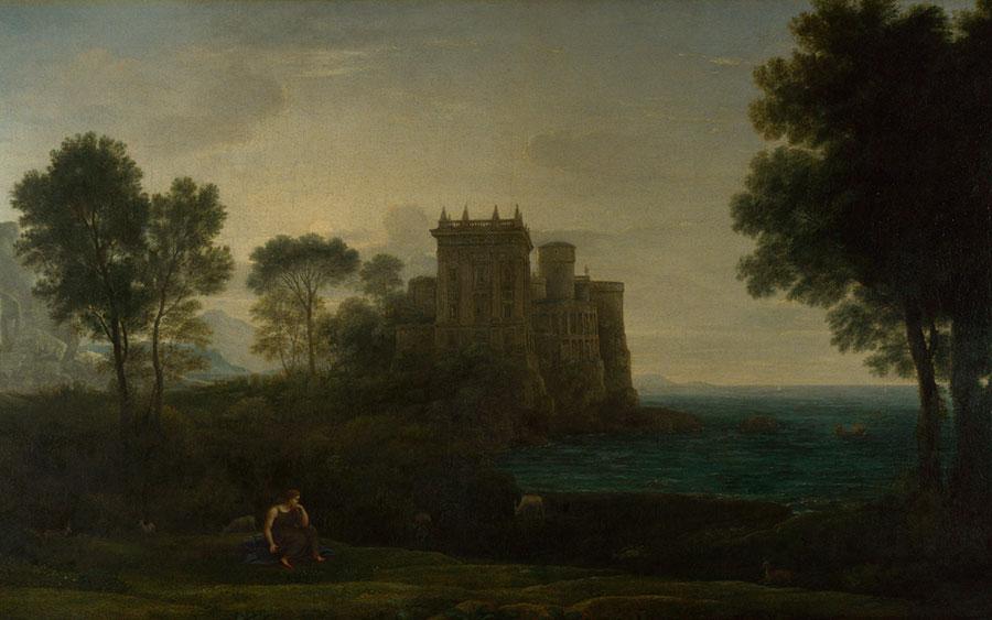 Клод Лоррен (Claude Lorrain) - Пейзаж с Психеей За пределами Дворца Купидона, 1664