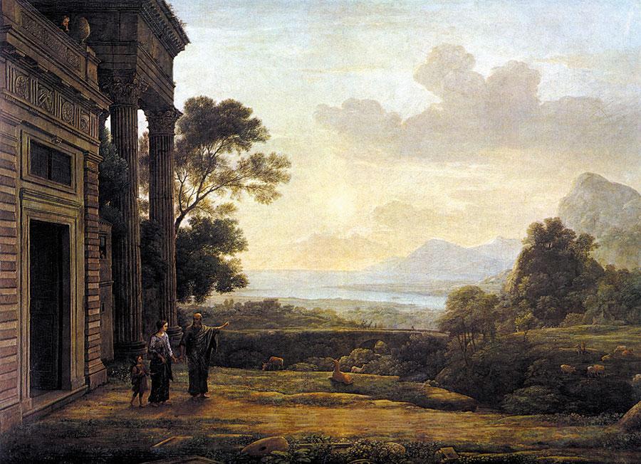 Клод Лоррен (Claude Lorrain) - The Banishment of Hagar, 1668