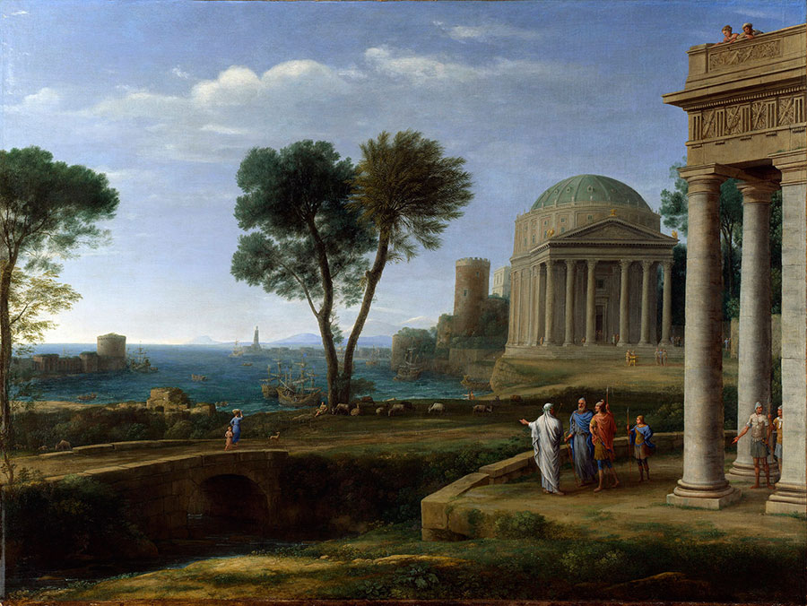 Клод Лоррен (Claude Lorrain) -  Aeneas in Delos, 1671-1672