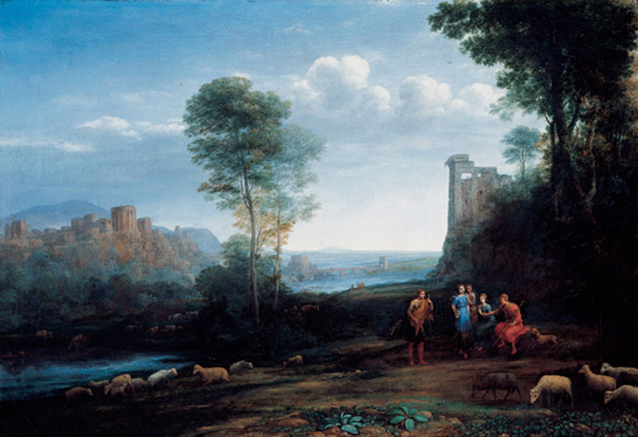 Клод Лоррен (Claude Lorrain) - Pastoral Landscape, 1677