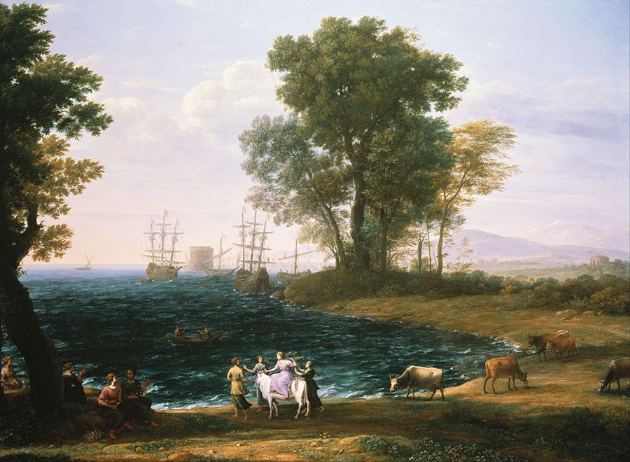 Клод Лоррен (Claude Lorrain) - Rape of Europa, 1677