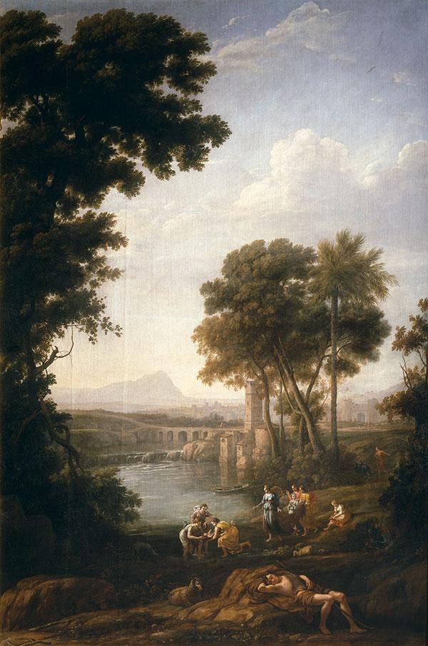 Клод Лоррен (Claude Lorrain) -Пейзаж с находкой Моисея, 1637-1639
